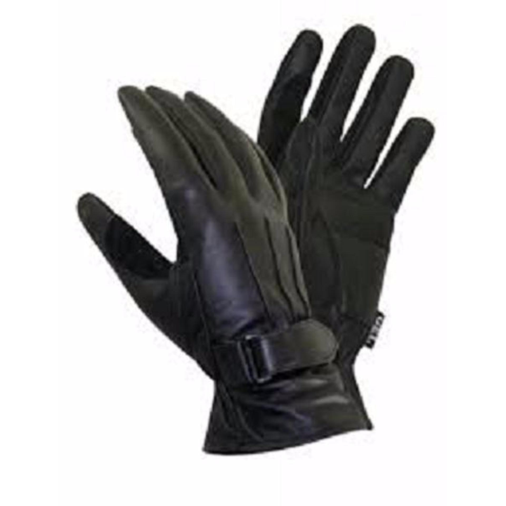 Sarung Tangan Kulit Asli Black Farel