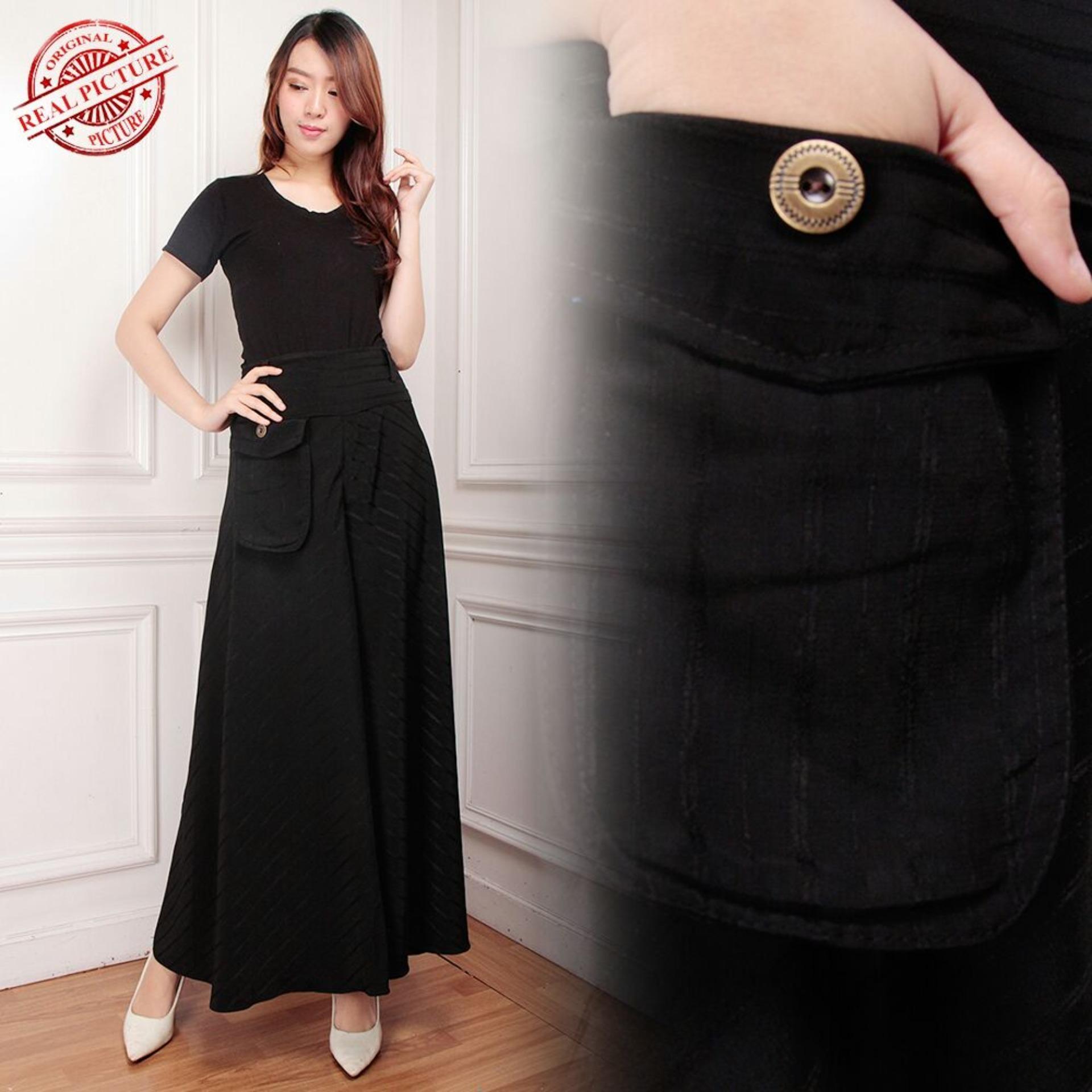 Toko Sb Collection Celana Panjang Belby Longpants Hitam Putih Wanita Di Banten