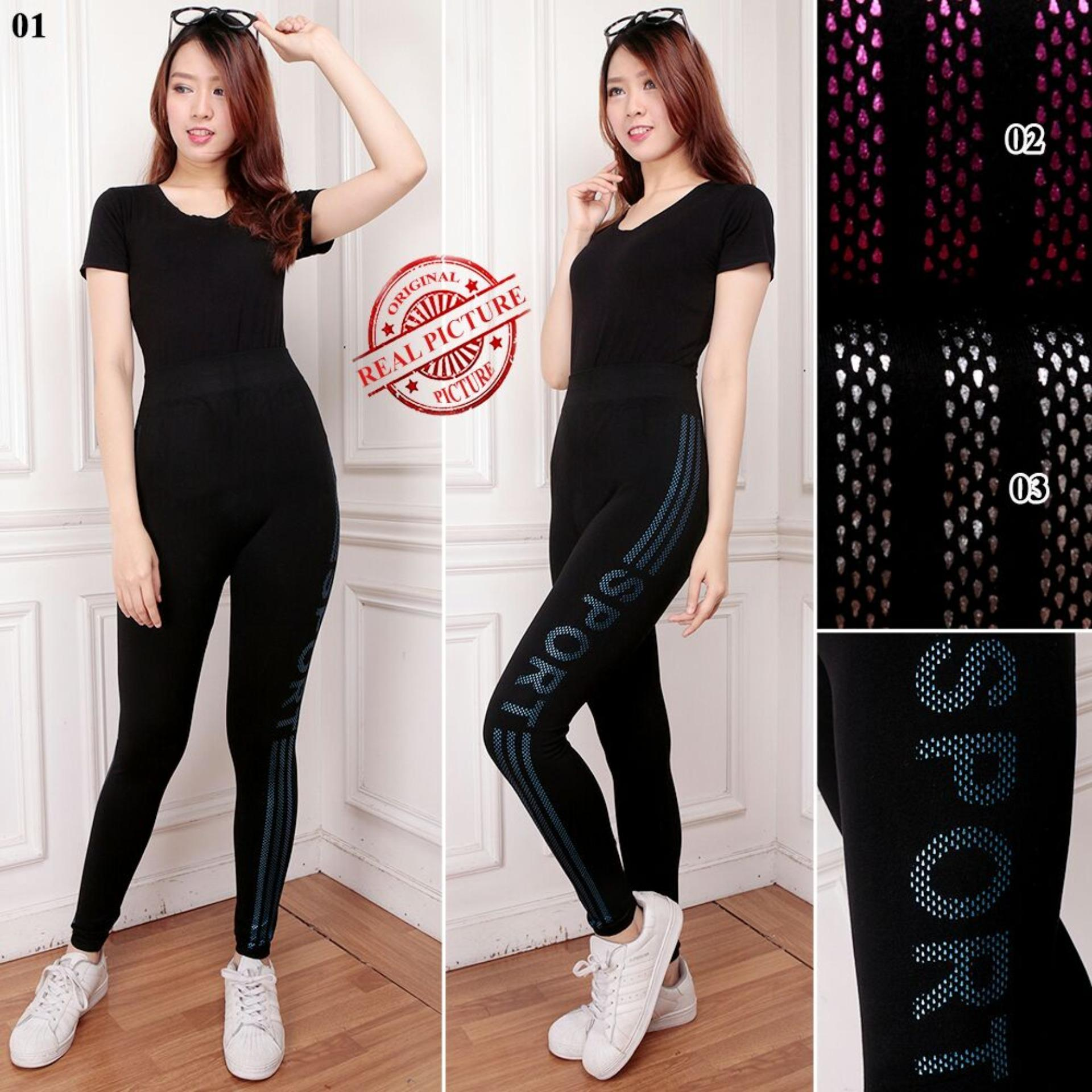 Jual Sb Collection Celana Panjang Novia Legging Senam Jumbo Wanita Import