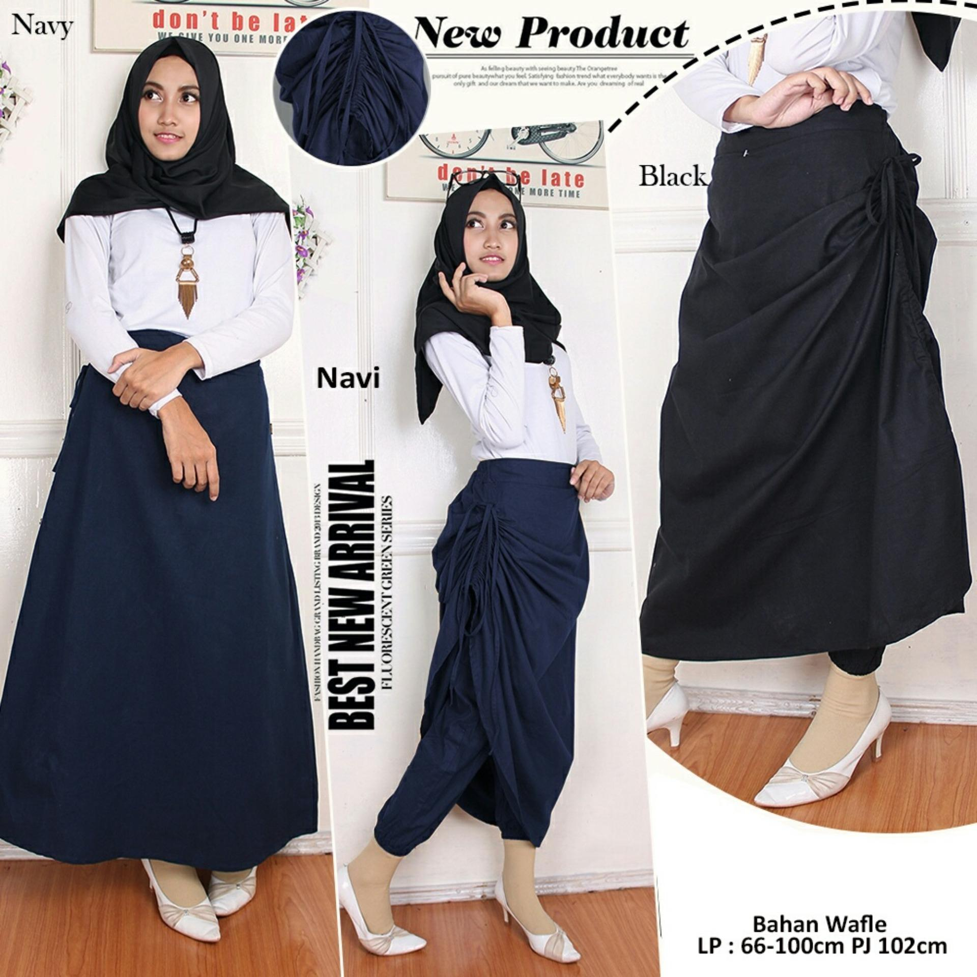 Model Sb Collection Celana Rok 3 In 1 Zakia Long Pant Hitam Terbaru