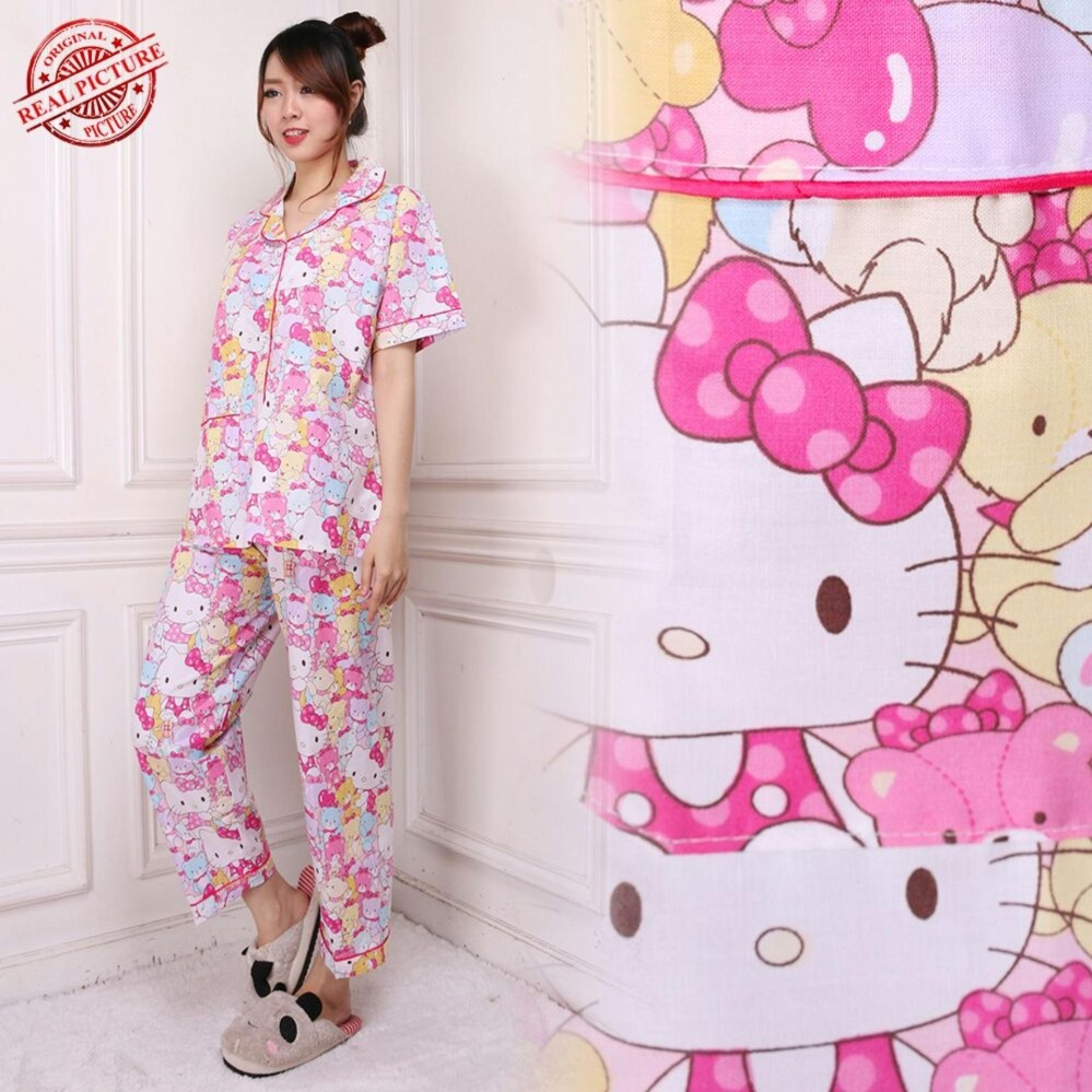 Sb Collection Stelan Baju Tidur Cunli  Piyama Import-Pink