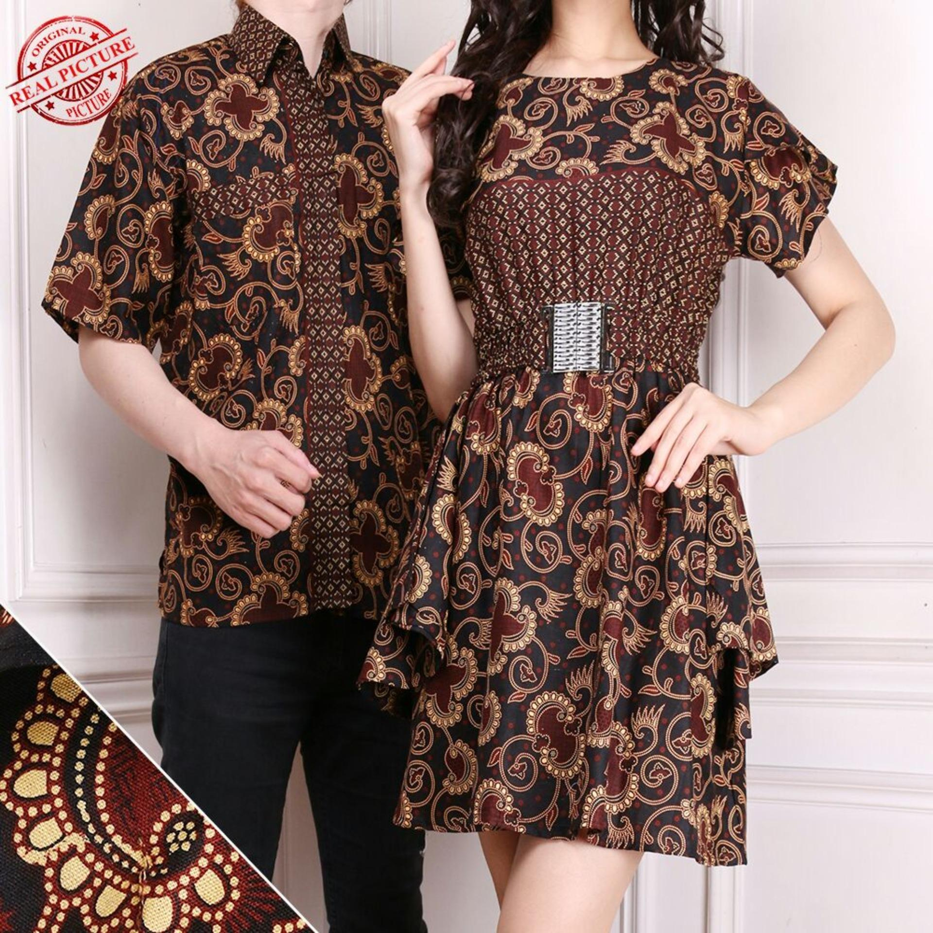 SB Collection Sweet Couple Dress Batik - Coklat