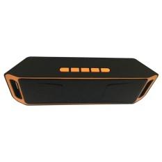 SC208 Nirkabel Bluetooth Speaker Portabel Stereo Mini Kotak Suara untuk Mobile dan Mobil dengan HD Audio dan Bass Yang Disempurnakan/ Built-in Dual Driver Speakerphone/Handfree Calling/FM Radio/TF Card Slot-Intl
