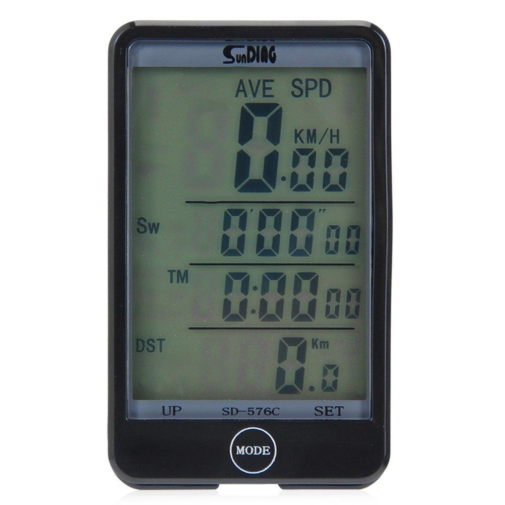 Jual Sd 576C Speedometer Sepeda Nirkabel Waterproof Dengan Lcd Backlight Hitam Intl Murah Tiongkok