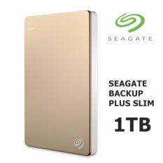 Beli Seagate 1Tb Backup Plus Slim External Usb 3 Portable Hard Drive Gold Murah