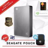 Seagate Backup Plus Portable 4Tb 2 5 Usb 3 Silver Gratis Pouch Asli