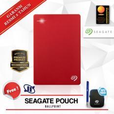 Jual Seagate Backup Plus Slim 1Tb 2 5 Usb 3 Merah Gratis Pouch Ballpoint Seagate Grosir