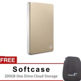 Spesifikasi Seagate Backup Plus Slim 1Tb Gold Gratis Softcase 200 Gb One Drive Cloud Storage Merk Seagate
