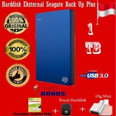 Seagate Backup Plus Slim 1TB - HDD - HD - Hardisk External 2.5 - Biru + Gratis  Flashdisk Toshiba 32gb  + Pouch Harddisk + Otg Mini