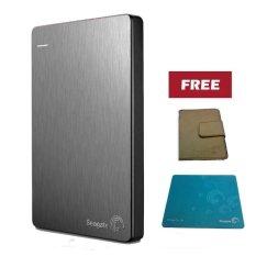 Seagate Backup Plus Slim 2TB - Silver + Pouch dan Mouse Pad