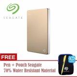 Diskon Seagate Backup Plus Slim Hdd Eksternal 2 5 1Tb Usb3 Gold Free Pouch Pen