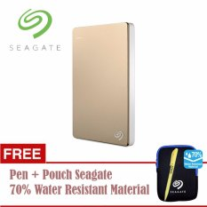 Review Tentang Seagate Backup Plus Slim Hdd Eksternal 2 5 1Tb Usb3 Gold Free Pouch Pen