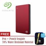 Seagate Backup Plus Slim Hdd Eksternal 2 5 2Tb Usb3 Merah Free Pouch Pen Diskon Akhir Tahun