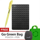Diskon Besarseagate Expansion New 2 5 Inch Usb 3 500Gb Hitam Gratis Go Green Bag Pouch Pen