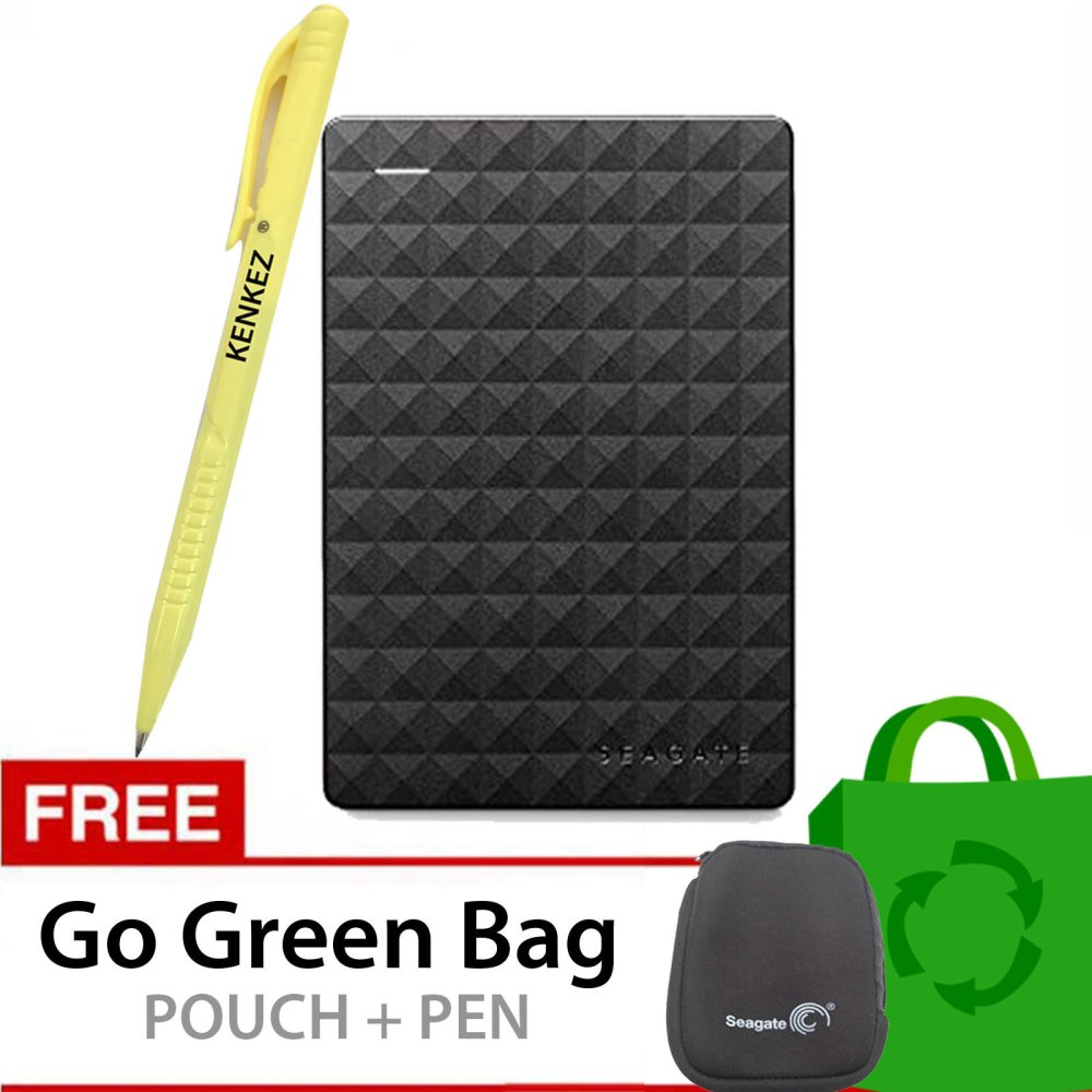 Seagate Expansion New 2 5 Inch Usb 3 1 5Tb Hitam Gratis Go Green Bag Pouch Pen Seagate Diskon 40
