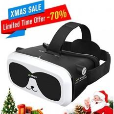 Sealegend VR Headset untuk 3D Video Game Fit 6.0 Inches dan Lebih Kecil IPhone Ponsel Android, Adjustable Focal Jarak dan Tali Pengikat untuk Anak Dewasa Virtual Reality Headset VR Goggles Panda VR BOX-Intl