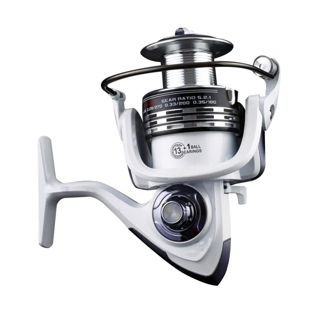 Review Seamless Bearing Smooth High Hardness Gear Metal Rocker Arm Saltwater Freshwater Fishing Spinning Reel White Specification Hc3000 Type Pearl White Intl Oem