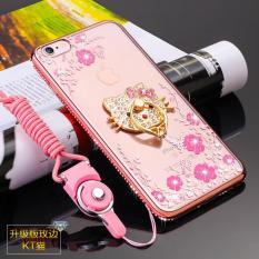 Secret Garden Diamond TPU Case Belakang PENUTUP untuk IPhone 6/6 S (KT Cat Rose Gold) -Intl