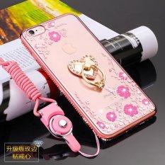 Secret Garden Diamond TPU Case Belakang PENUTUP untuk IPhone 6/6 S (Love Rose Emas)-Intl