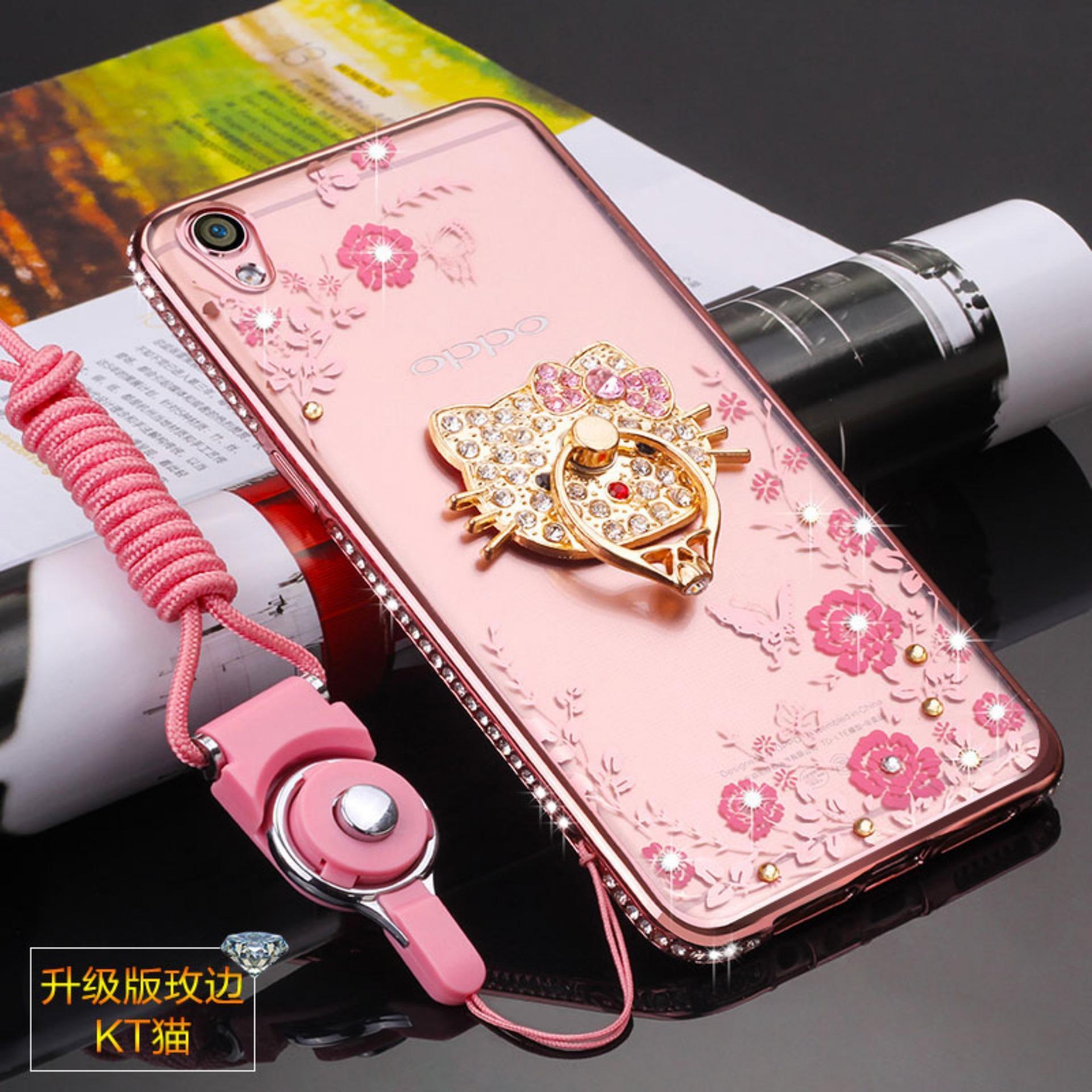 Beli Secret Garden Diamond Tpu Case Belakang Penutup Untuk Oppo A37 Kt Cat Rose Emas Intl