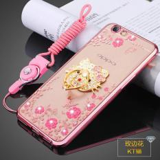 Secret Garden TPU Back Case Cover untuk OPPO F1s  OPPO A59 (KT Cat Rose Emas)-Intl