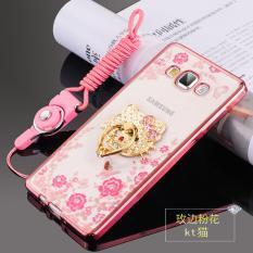 Secret Garden TPU Back Case Cover untuk Samsung Galaxy J3 Pro (KT Cat Rose Emas)-Intl