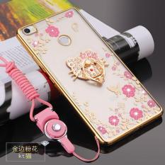 Secret Garden TPU Back Case Cover untuk Xiaomi Mi Max (KT Cat Emas)-Intl
