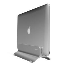 SeenDa Aluminium Alloy Universal Vertikal Laptop Stand Adjustable Desktop Holder Dipasang Hemat Ruang Berdiri dengan Dua Removable Yang Berbeda Silicone Mat untuk Apple MacBook Pro/Air, Notebook (Perak)-Intl