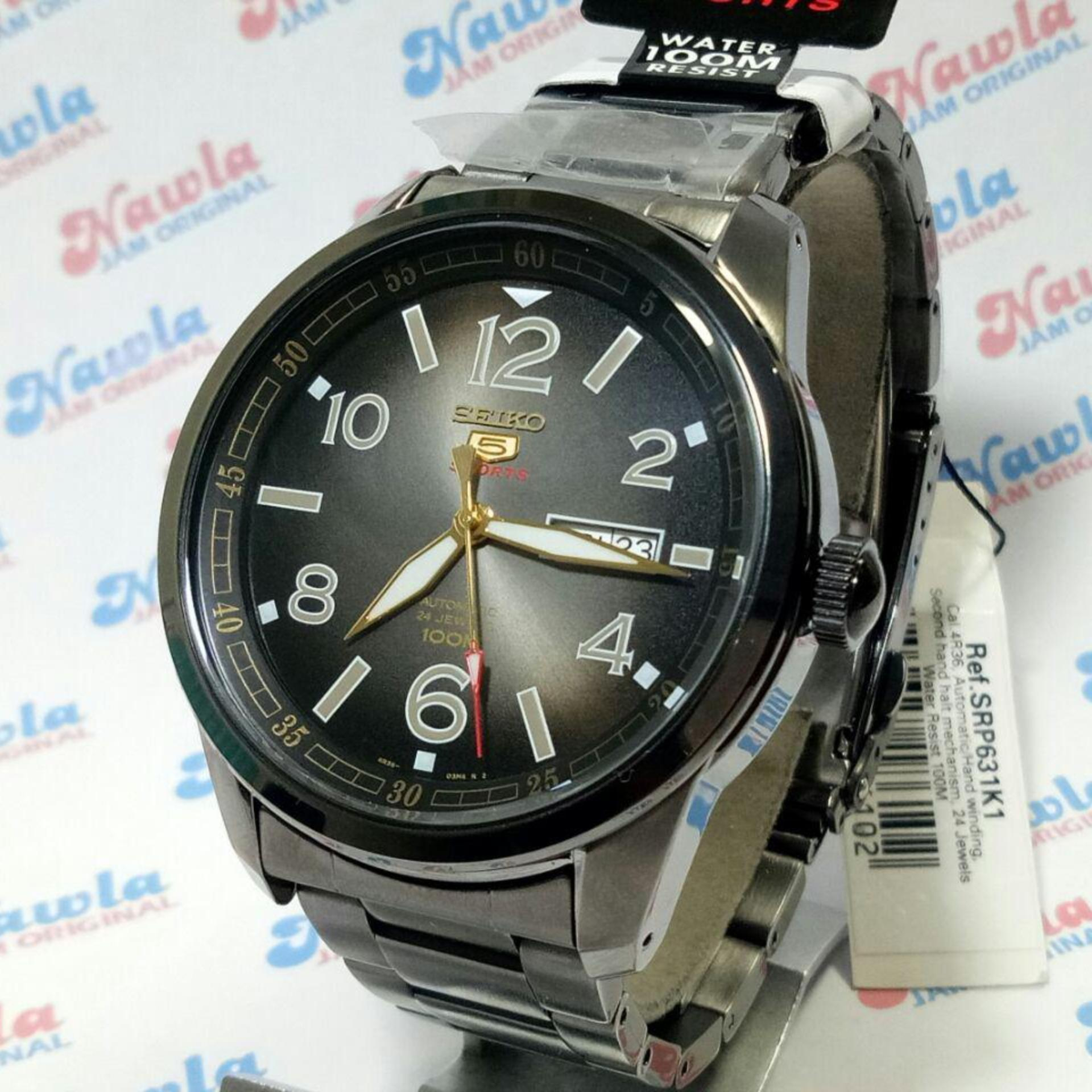Spesifikasi Seiko 5 Sports Srp631K1 Automatic Black Bracelet Jam Pria Srp631 Terbaru