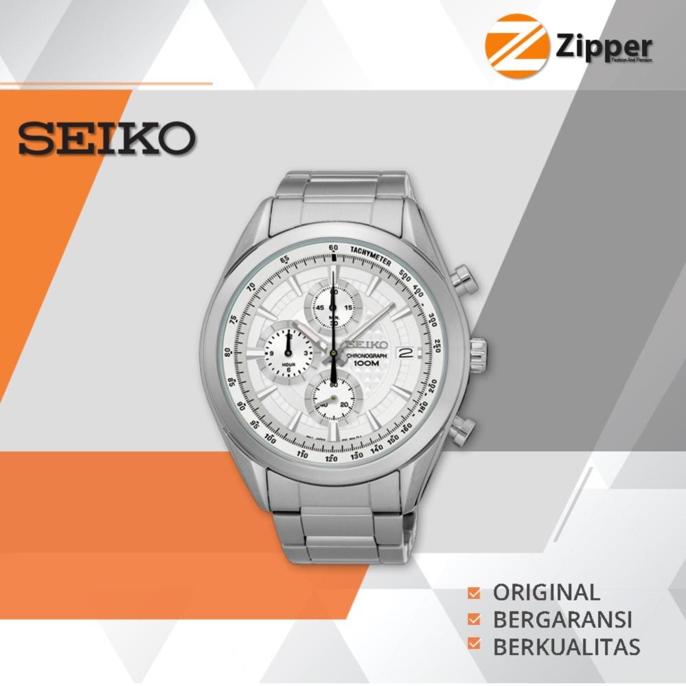 Jual Seiko Chronograph Jam Tangan Pria Tali Stainless Steel Ssb173P1 Seiko Di Jawa Timur