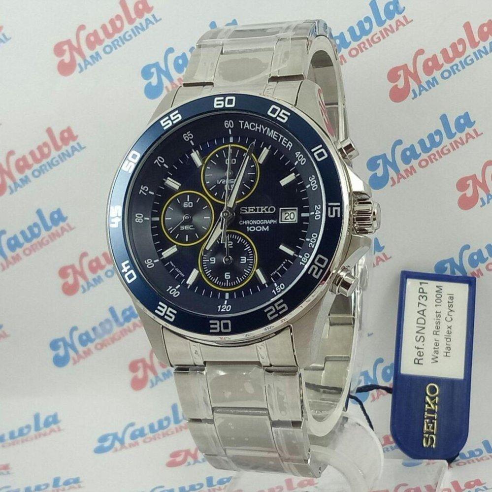 Beli Seiko Quartz Snda73P1 Chronograph Blue Bezel Jam Tangan Pria Snda73 Secara Angsuran