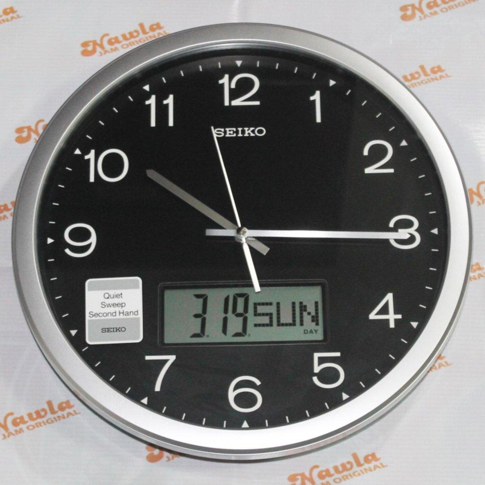 Cuci Gudang Seiko Wall Clock Qxl007 A S Analog With Lcd Calendar Jam Dinding Seiko Qxl007