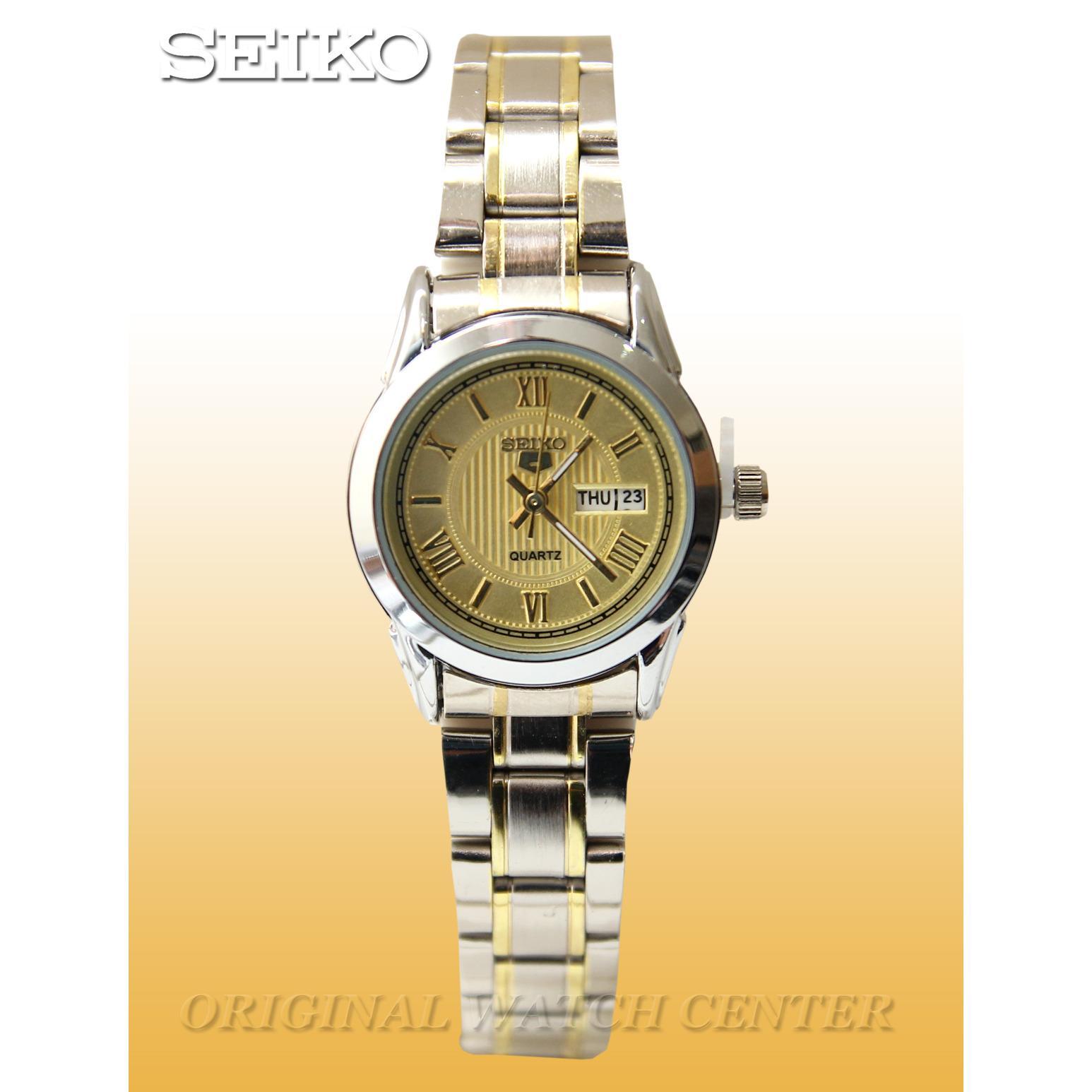 Seiko5-Quartz Jam Tangan Wanita - Stainless Steel - Fitur Tanggal Dan Hari