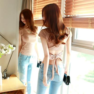Seksi Halter Lengan Pendek T Shirt T Shirt Beige Baju Wanita Baju Atasan Kemeja Wanita Oem Murah Di Tiongkok