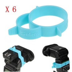 Harga Selens 6 Pieces Universal Karet Band Untuk On Camera Flash Speedlite Pemicu Receiver Paling Murah