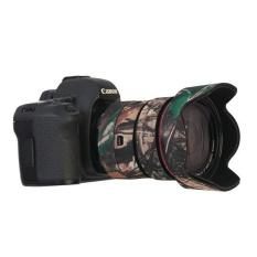 Selens Canon 24-70mmF2.8II Neoprene Camera Lens Protective Coat Cover Camo Tahan Air-Intl Fotografi Kamera - intl