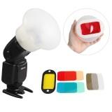 Beli Selens Magnetic Flash Pengubah Lingkup Penyebar Saring Gel Kit Untuk Canon Yongnuo Flash Kredit Tiongkok