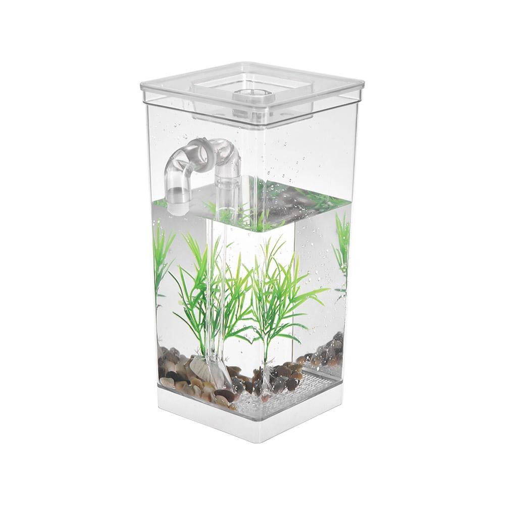 office desk fish tank. Self Cleaning Small Fish Tank Bowl Convenient Acrylic Desk Aquarium For Office Home Creative Gifts