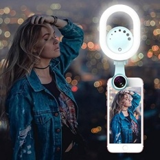 Selfie Ring Light Clip On-Luxsure 48 LED 180 ° Rotatable Kamera Makeup Light Kit, 3 Mode, Adjustable, Rechargeable, untuk Iphone Ipad Samsung Kebanyakan Smartphone Tablet Laptop (Hijau)-Intl