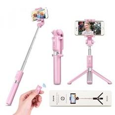 Selfie Tongkat Tripod dengan Jarak Jauh Bluetooth-Vanzavanzu 2017 Baru Terbaik Selfie Tongkat Monopod Tripod untuk iPhone 6 S PLUS 7 Plus Samsung S7 Sisi, podcast, Siaran Langsung, FaceTime (Merah Muda)-Internasional