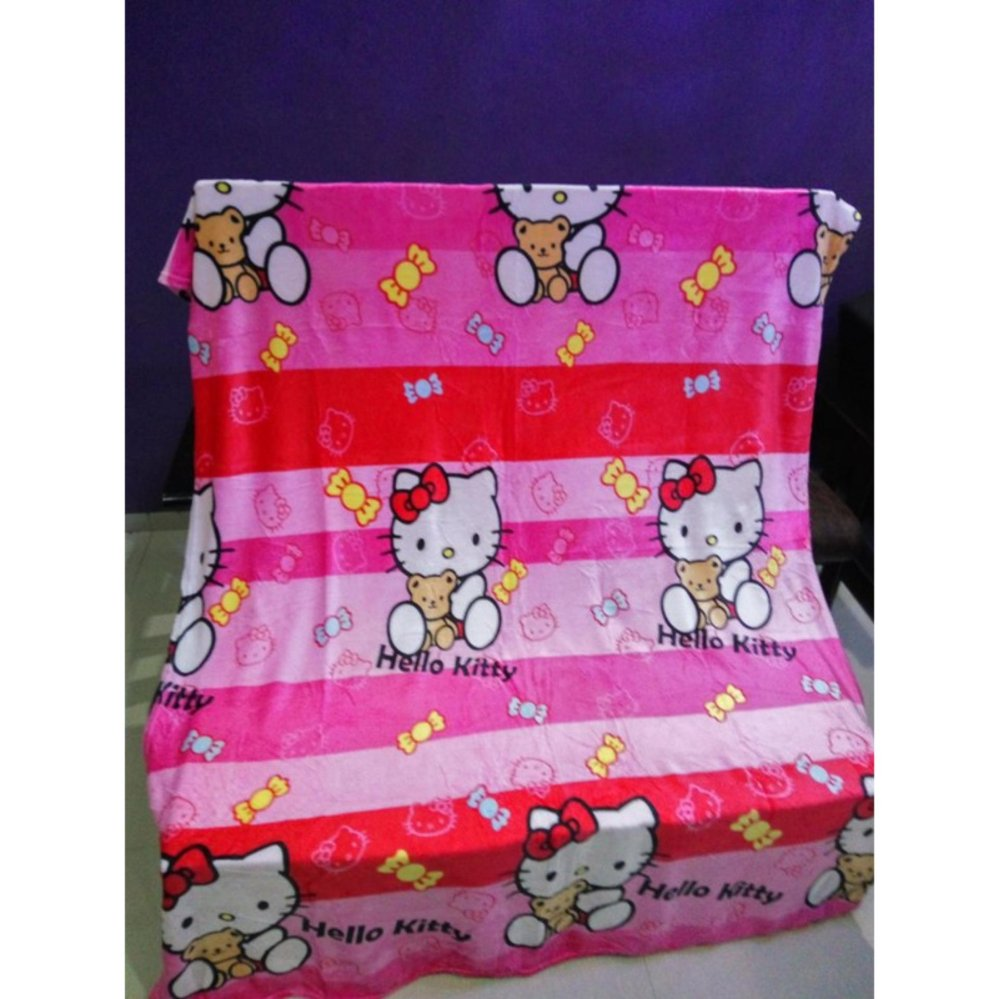 Promo Selimut Super Lembut Merk Akiko Karakter Hello Kitty Little Uk 150X200 Cm