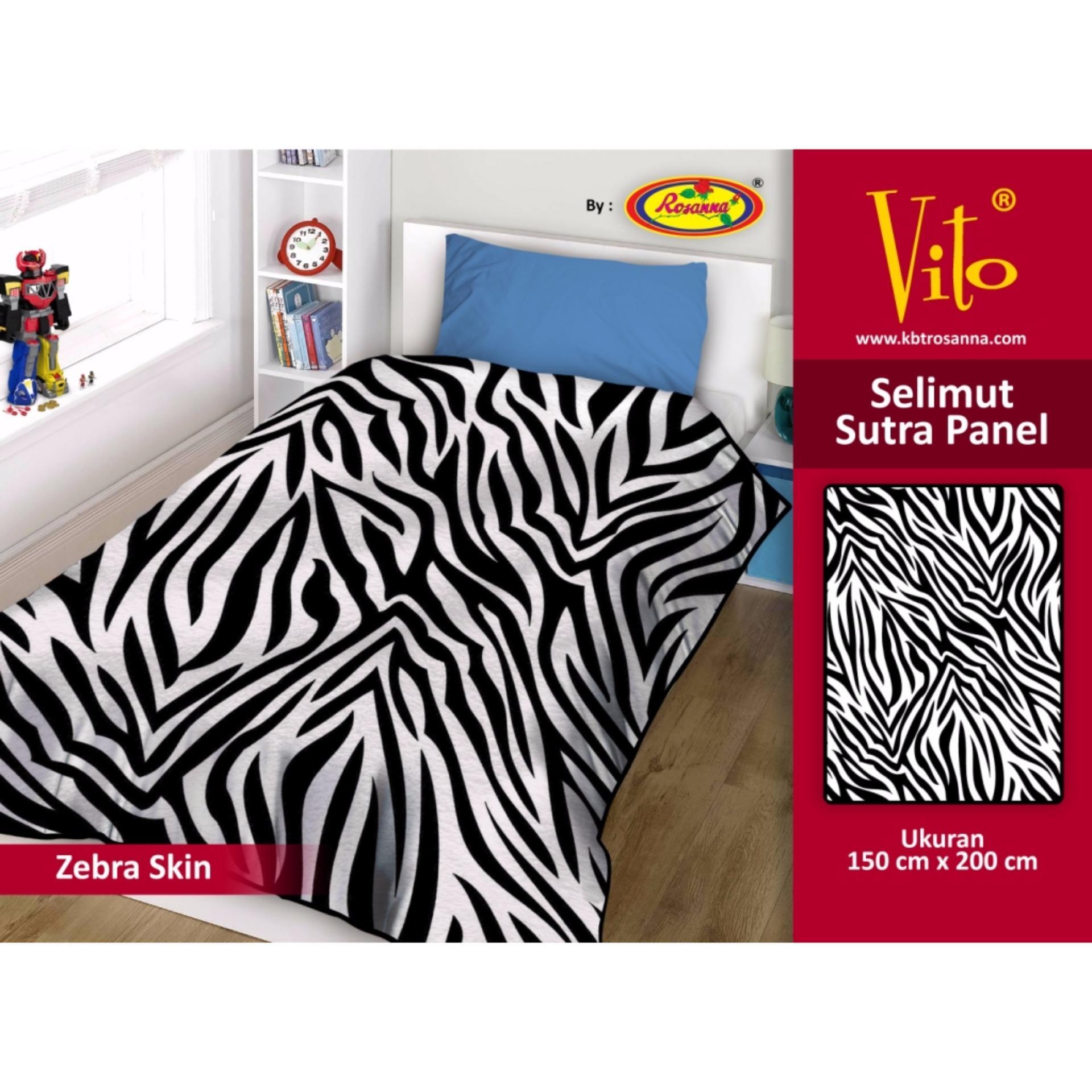 Jual Selimut Vito Sutra Panel 150X200 Zebra Skin Indonesia Murah