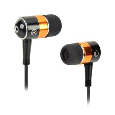 SEO8 ABS + Aluminium Paduan 3.5mm Plug Di Telinga Earphone Stereo-Hitam + Keemasan-Internasional