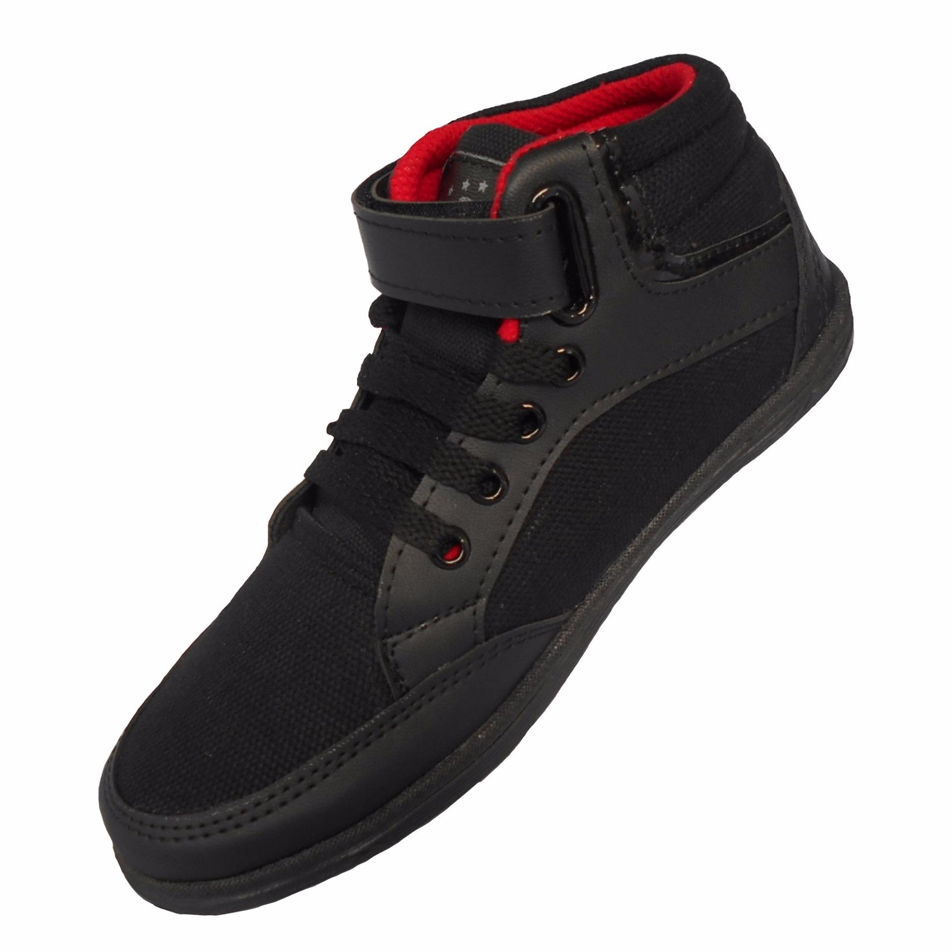 Sepatu Anak Laki Terbaru Varka Casual Pria 004 Sekolah Tk Sd Usia 6 10 Th Hitam