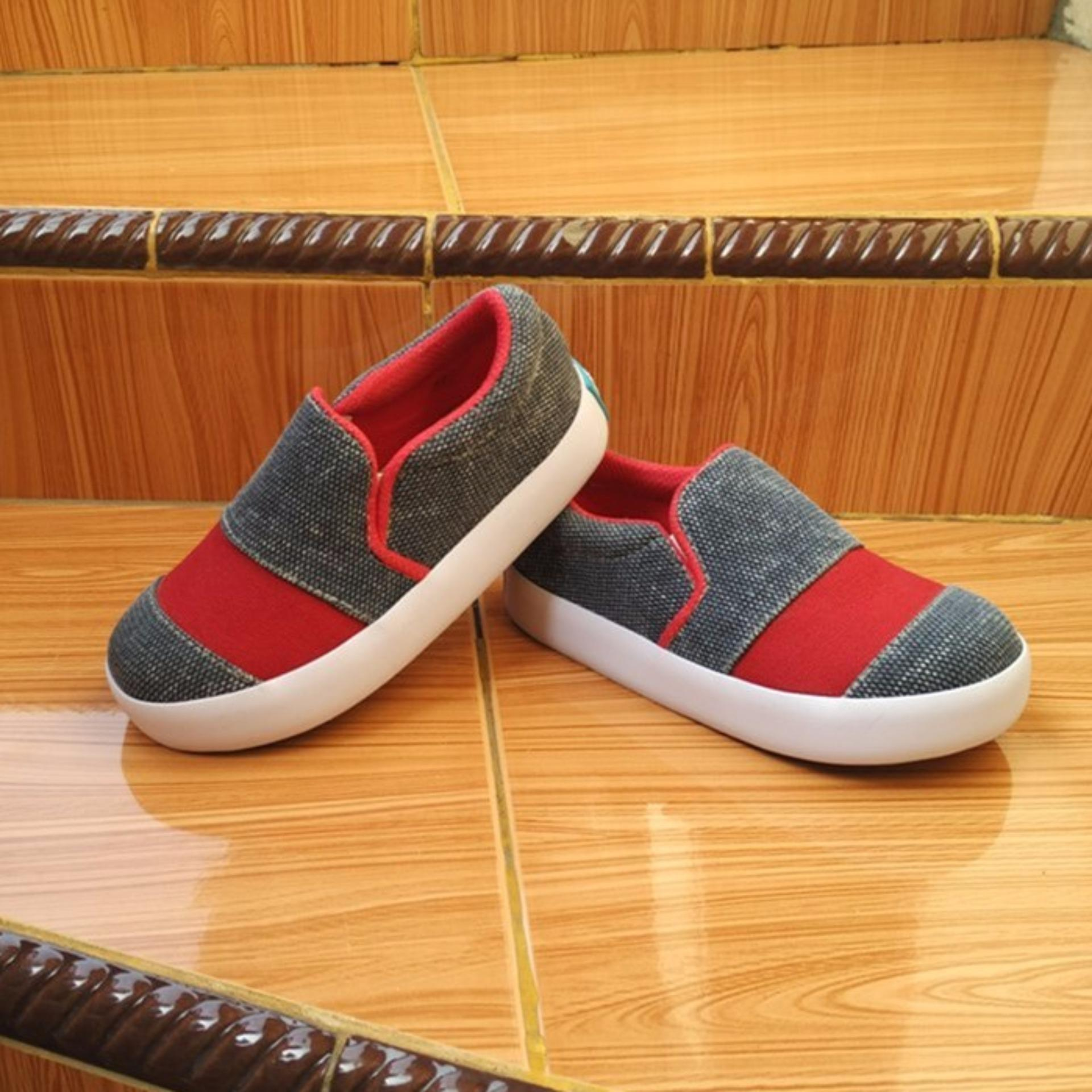 Review Sepatu Anak Slip On Murah Kanvas Casual Trendy By Shuku Terbaru