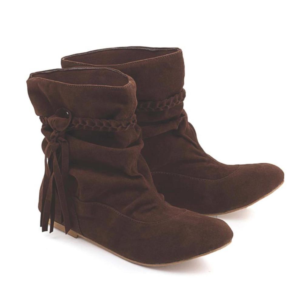 Spesifikasi Sepatu Boot Casual Wanita Blackkely Warna Coklat Ldg 162 Beserta Harganya