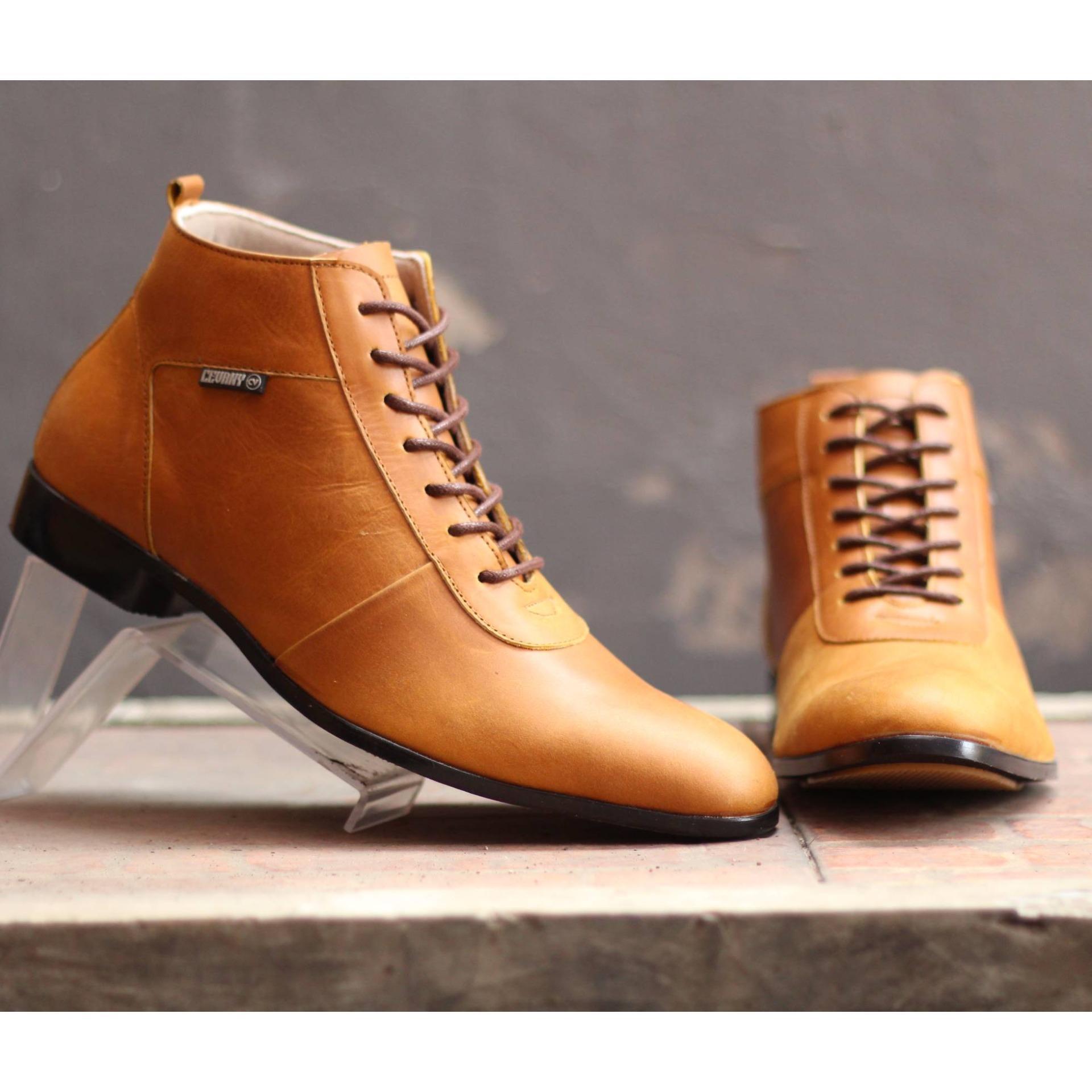 Sepatu Boot Cevany Brodo Max Kulit Sapi Asli