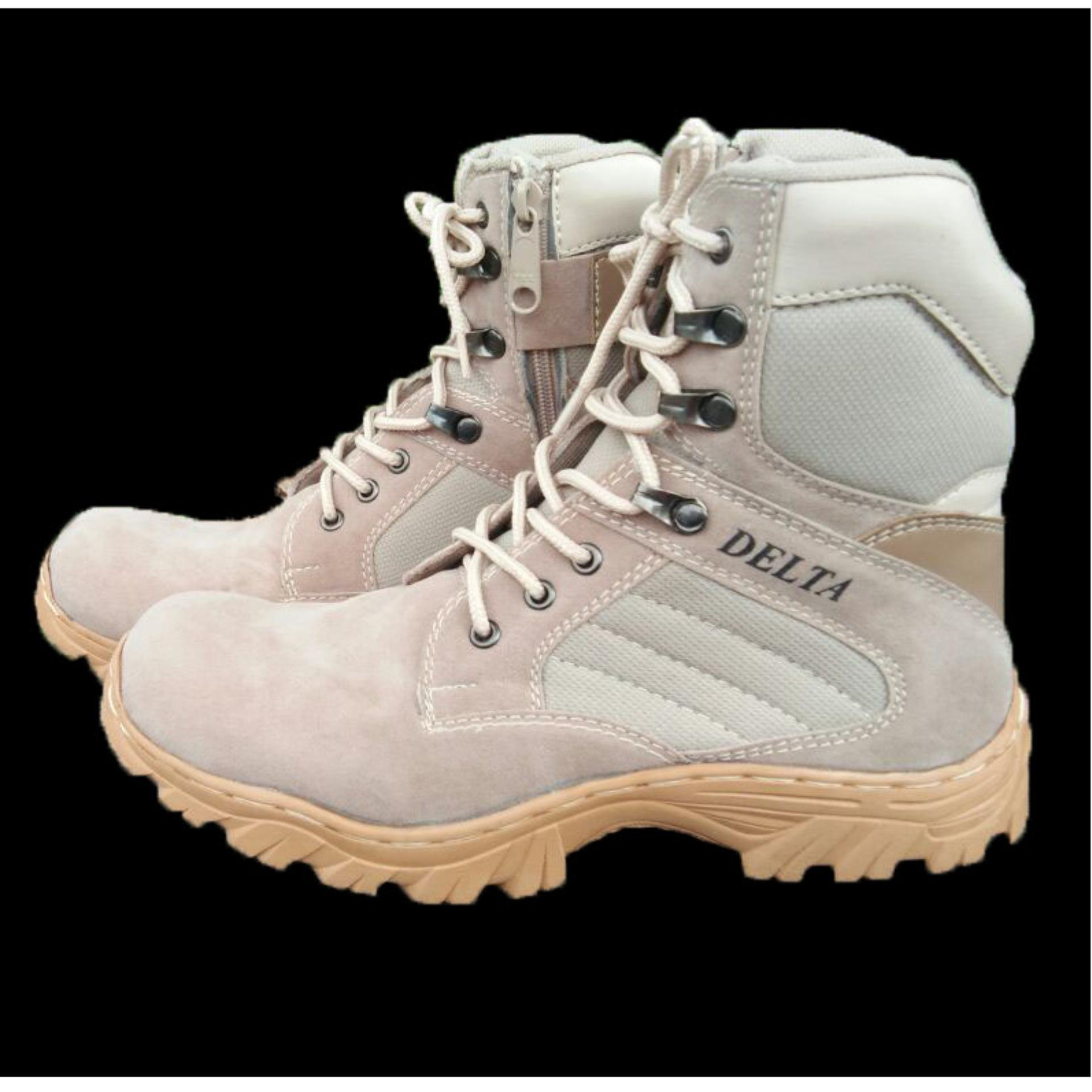 Sepatu Boot Hiking Delta High 8inch Kualitas Outdoor - Gurun