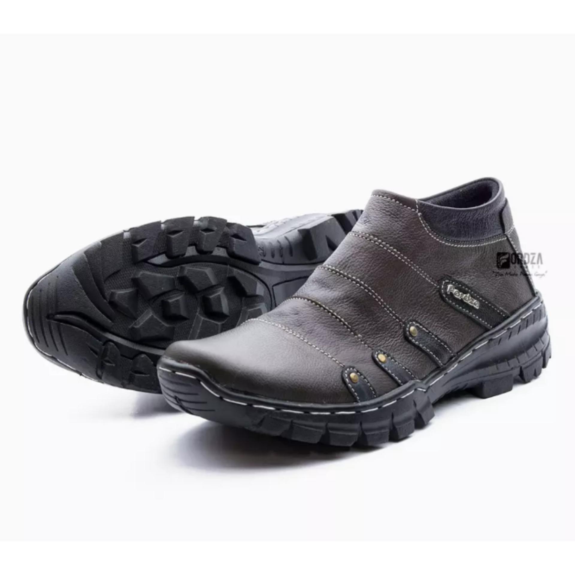 Spesifikasi Sepatu Boot Pria Boots Touring Casual Kulit Asli Resleting Non Safety Handmade Fordza Bks07 Terbaru