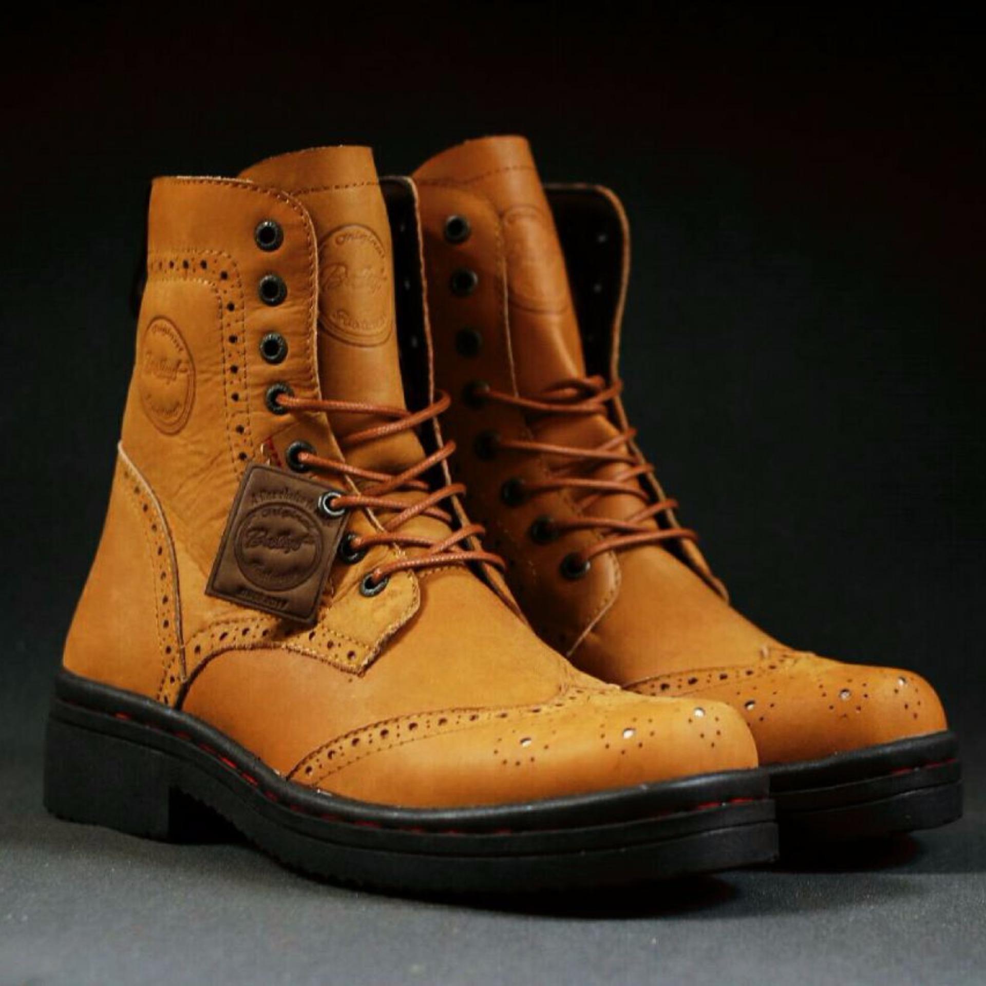 Sepatu Boots Berkendara Turing Sepatu Boots Anak Band Bradleys Adelardo Tan Promo Beli 1 Gratis 1